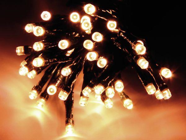 LED-Lichterkette, 48 LEDs, warmweiß, Batteriebetrieb, IP44, Timer - Produktbild 1