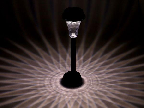 LED Solar-Gartenleuchte DAYLITE SGL-5S, schwarz - Produktbild 4