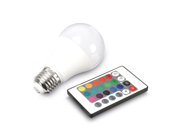 RGB LED-Lampe DAYLITE BM-E27-510RGB, E27, EEK: A+, 7,5 W, 510 lm, dimmbar - Produktbild 1