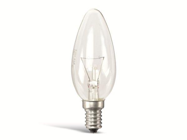 Glühlampe, E14, EEK: E, 40 W, Kerze, klar