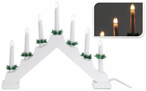 LED-Kerzenbrücke, 7 Lampen