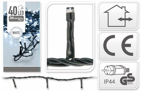LED-Lichterkette, 40 LEDs, kaltweiß, 230V~, IP44, Innen/Außen - Produktbild 4