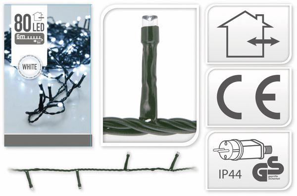 LED-Lichterkette, 80 LEDs, kaltweiß, 230V~, IP44, Innen/Außen - Produktbild 4