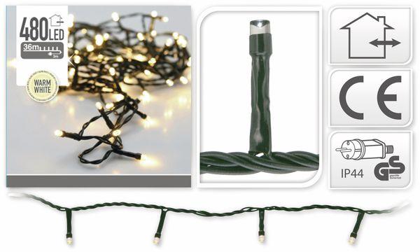 LED-Lichterkette, 480 LEDs, warmweiß, 230V~, IP44, Innen/Außen - Produktbild 4