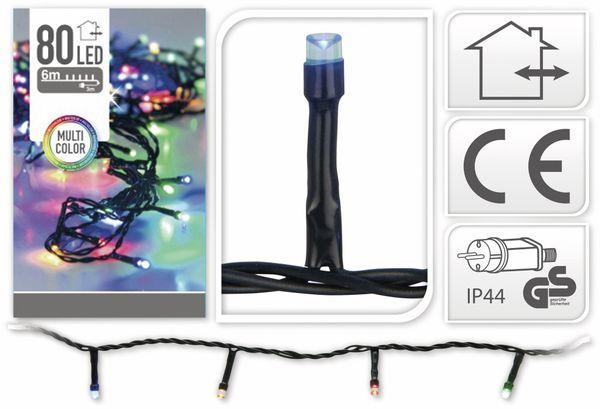 LED-Lichterkette, 80 LEDs, bunt, 230V~, IP44, Innen/Außen - Produktbild 4