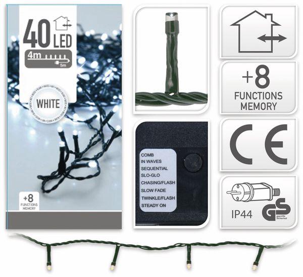 LED-Lichterkette, 40 LEDs, kaltweiß, 230V~, IP44, 8 Funktionen, Memory - Produktbild 4