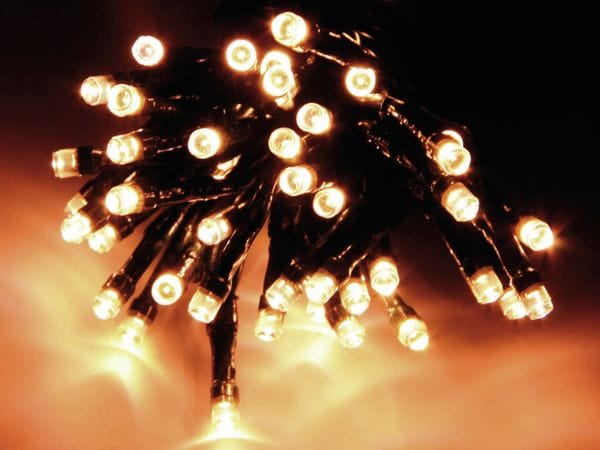 LED-Lichterkette, 80 LEDs, warmweiß, 230V~, IP44, 8 Funktionen, Memory