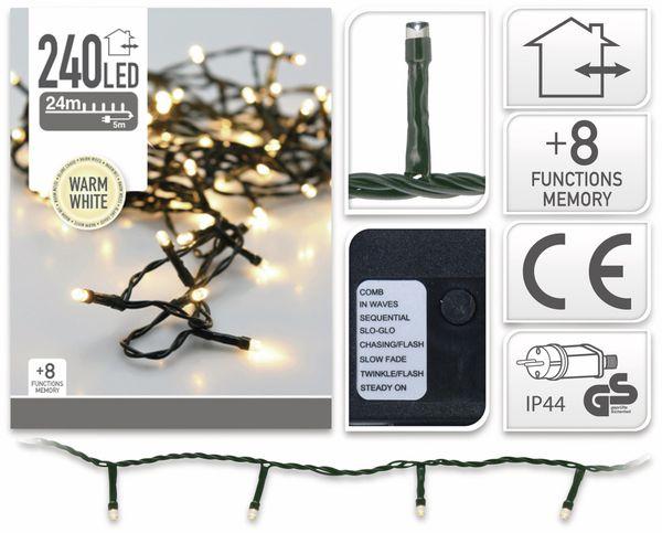 LED-Lichterkette, 240 LEDs, warmweiß, 230V~, IP44, 8 Funktionen, Memory - Produktbild 4