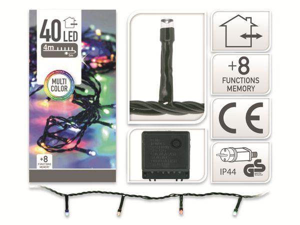 LED-Party Lichterkette, 40 LEDs, bunt, 230V~, IP44, 8 Funktionen, Memory - Produktbild 4