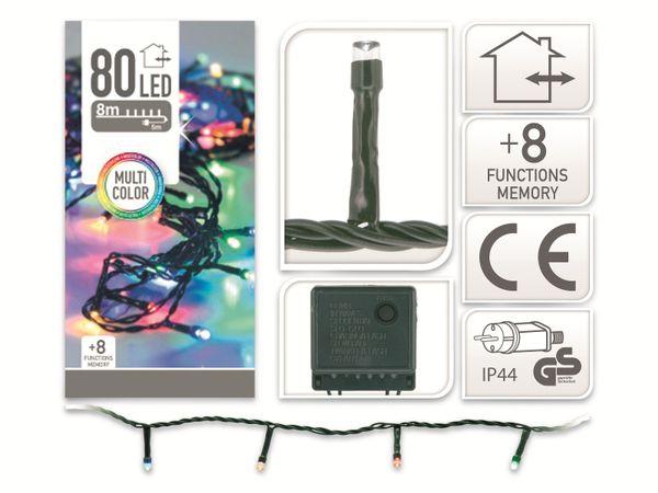 LED-Party Lichterkette, 80 LEDs, bunt, 230V~, IP44, 8 Funktionen, Memory - Produktbild 4