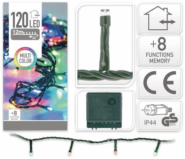 LED-Lichterkette, 120 LEDs, bunt, 230V~, IP44, 8 Funktionen, Memory - Produktbild 4