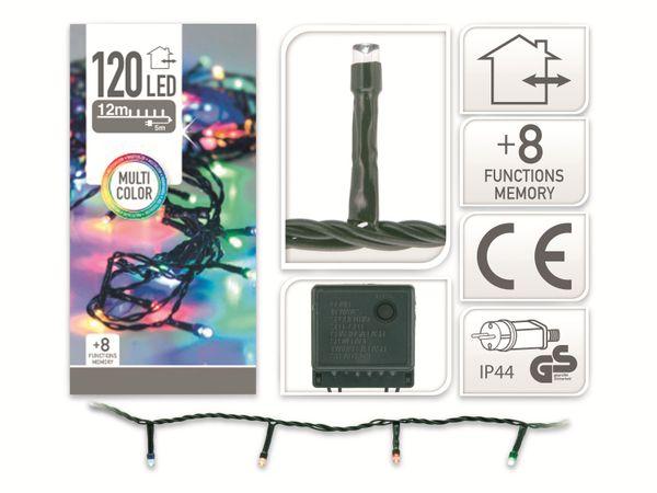 LED-Party Lichterkette, 120 LEDs, bunt, 230V~, IP44, 8 Funktionen, Memory - Produktbild 4