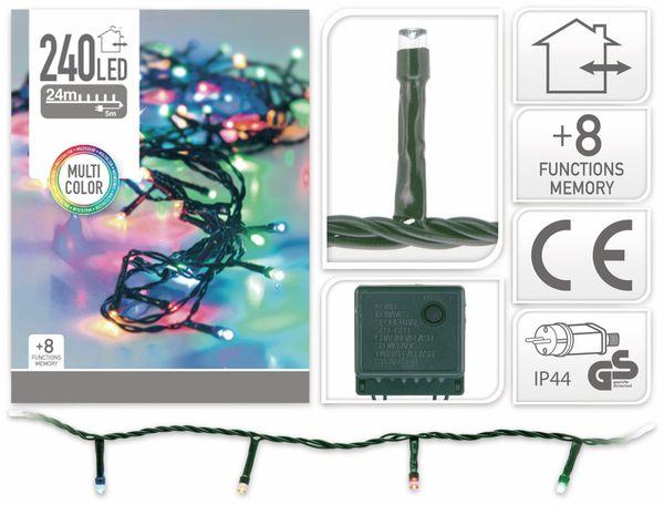 LED-Lichterkette, 240 LEDs, bunt, 230V~, IP44, 8 Funktionen, Memory - Produktbild 4