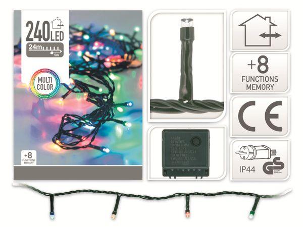 LED-Party Lichterkette, 240 LEDs, bunt, 230V~, IP44, 8 Funktionen, Memory - Produktbild 4