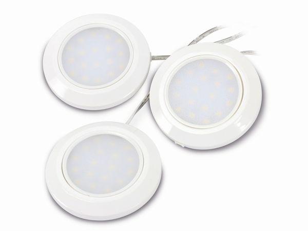 LED-Aufbauleuchten-Set ILUFA 268132, EEK: A++, 1,5 W, 80 lm, 6000 k, 3 St. - Produktbild 2