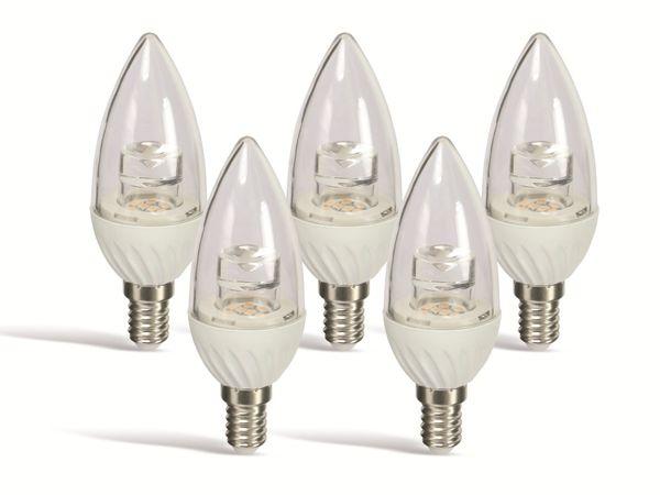 LED-Lampe DAYLITE KKL-E14-200WW, E 14, EEK: A+, 3 W, 200 lm, 2700 k , 5 St.