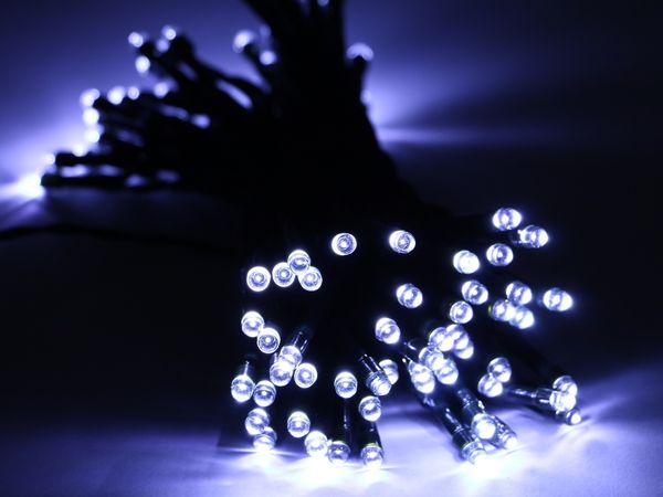 Solar-Lichterkette, 50 LEDs, kaltweiß - Produktbild 5