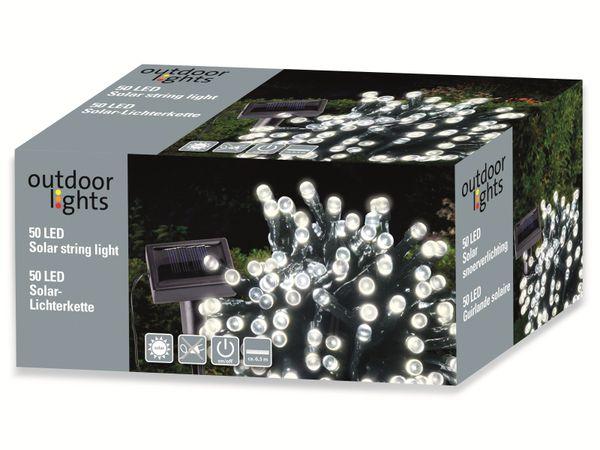 Solar-Lichterkette, 50 LEDs, kaltweiß - Produktbild 6