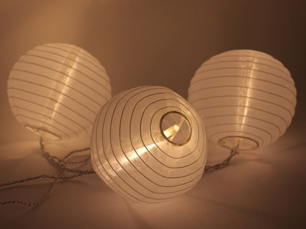 LED-Sommerlichterkette, weiß, B-Ware - Produktbild 1