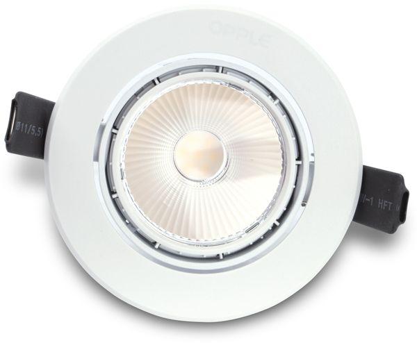 LED-Deckeneinbauspot OPPLE 140044094, EEK: A, 7 W, 420 lm, 3000 K, weiß