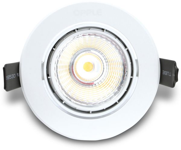 LED-Deckeneinbauspot OPPLE 140044122, EEK:A, 9,5 W, 640 lm, 4000 K, weiß - Produktbild 1