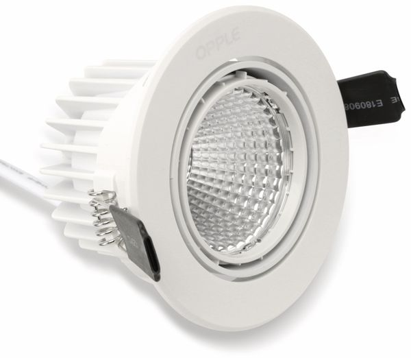 LED-Deckeneinbauspot OPPLE 140044123, EEK: A, 9 W, 640 lm, 4000 K, weiß - Produktbild 3