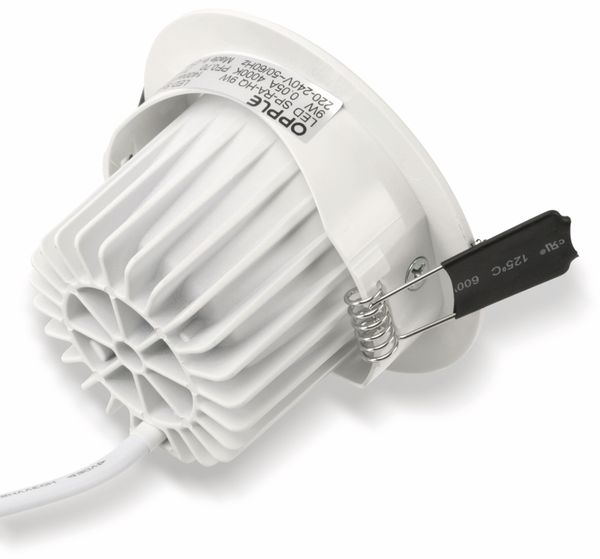 LED-Deckeneinbauspot OPPLE 140044123, EEK: A, 9 W, 640 lm, 4000 K, weiß - Produktbild 6