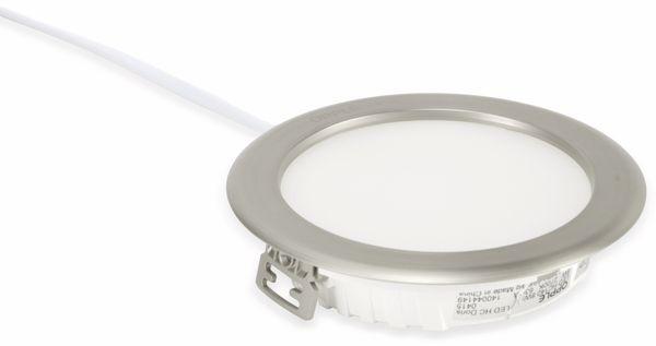 LED-Deckenleuchte OPPLE Doris, EEK: A, 8 W, 600 lm, 2700 K, Edelstahloptik - Produktbild 3