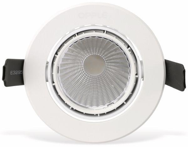LED-Deckeneinbauspot OPPLE 140044416, EEK: A, 7 W, 400 lm, 2700 K, weiß - Produktbild 4