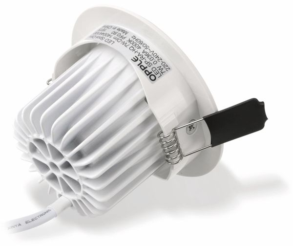 LED-Deckeneinbauspot OPPLE 140044416, EEK: A, 7 W, 400 lm, 2700 K, weiß - Produktbild 5