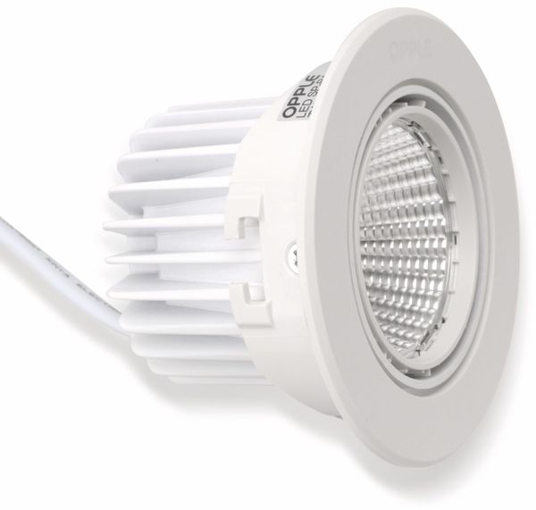 LED-Deckeneinbauspot OPPLE 140044416, EEK: A, 7 W, 400 lm, 2700 K, weiß - Produktbild 7