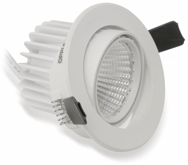 LED-Deckeneinbauspot OPPLE 140044417, EEK: A, 7 W, 400 lm, 2700 K, weiß - Produktbild 1