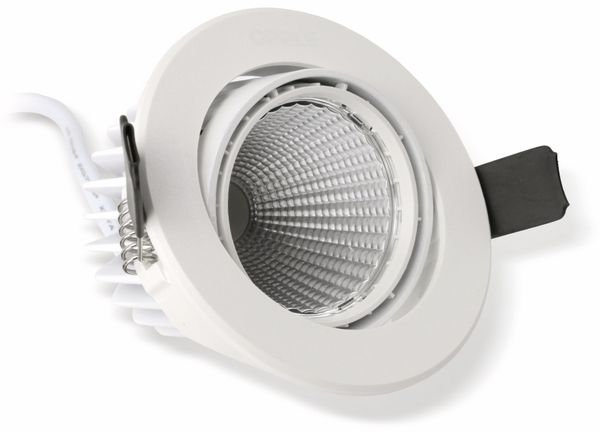 LED-Deckeneinbauspot OPPLE 140044417, EEK: A, 7 W, 400 lm, 2700 K, weiß - Produktbild 3
