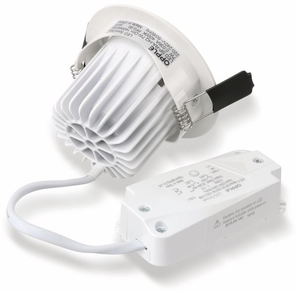 LED-Deckeneinbauspot OPPLE 140044422, EEK: A, 7 W, 400 lm, 2700 K, weiß - Produktbild 6
