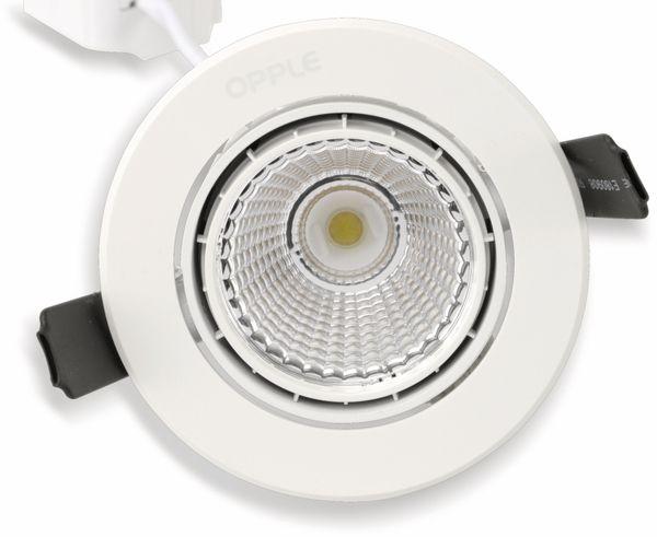 LED-Deckeneinbauspot OPPLE 140044428, EEK: A, 9 W, 580 lm, 2700 K, weiß - Produktbild 4