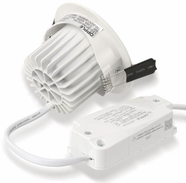 LED-Deckeneinbauspot OPPLE 140044429, EEK: A, 9 W, 580 lm, 2700 K, weiß - Produktbild 7