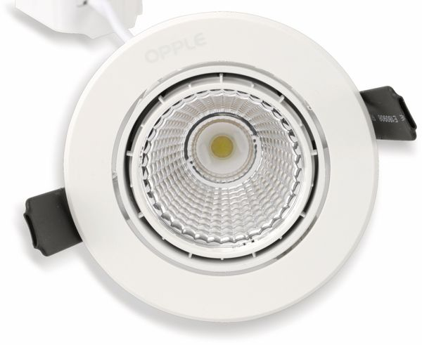 LED-Deckeneinbauspot OPPLE 140044434, EEK: A, 9,5 W, 580 lm, 2700 K, weiß - Produktbild 4