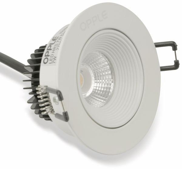 LED-Einbauspot OPPLE Ava 140049619, EEK: A, 7 W, 310 lm, 2700 K, weiß - Produktbild 1