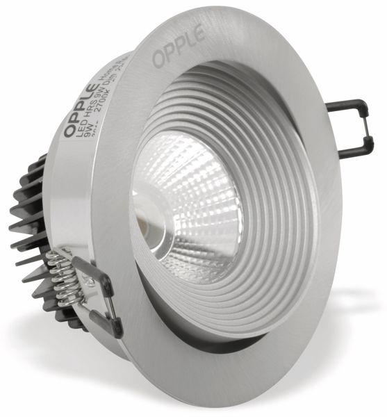 LED Einbauspot OPPLE AVA, EEK: A, 9 W, 430 lm, 2700 K, Edelstahloptik - Produktbild 1