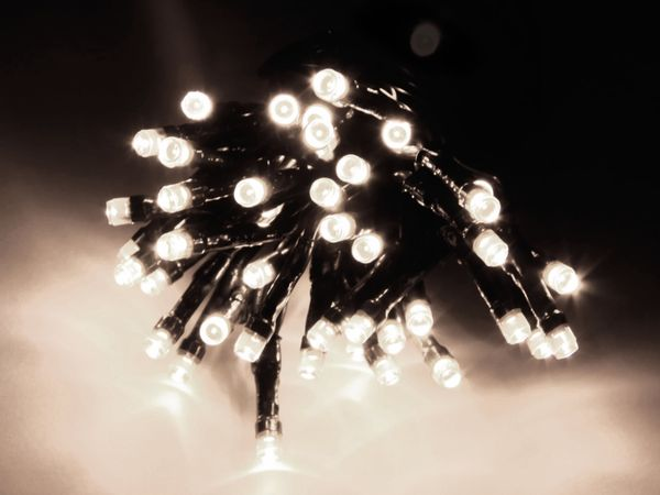 LED-Lichterkette, 720 LEDs, kaltweiß, 230V~, IP44, Innen/Außen