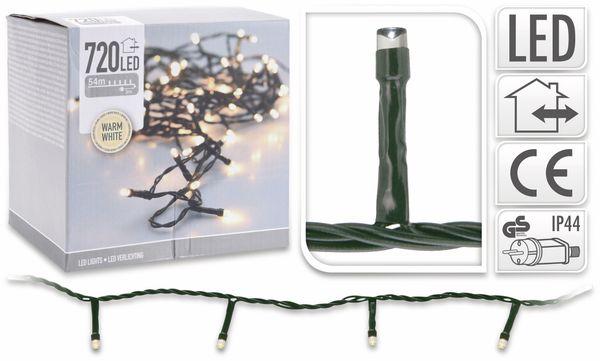 LED-Lichterkette, 720 LEDs, warmweiß, 230V~, IP44, Innen/Außen - Produktbild 4
