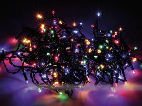 LED-Lichterkette, 180 LEDs, bunt, 230V~, IP44, Innen/Außen