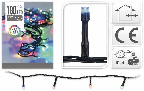 LED-Lichterkette, 180 LEDs, bunt, 230V~, IP44, Innen/Außen - Produktbild 4