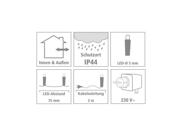 LED-Party Lichterkette, 320 LEDs, bunt, 230V~, IP44, Innen/Außen - Produktbild 3
