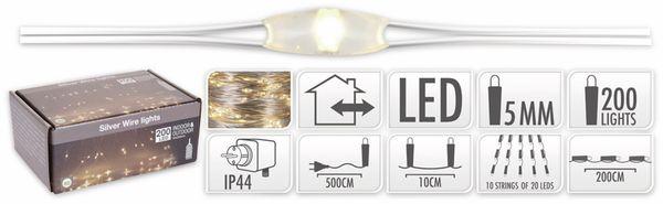 LED-Lichterkette, warmweiß, 200 LEDs, halbtransparent, 230V~, Innen/Außen - Produktbild 4