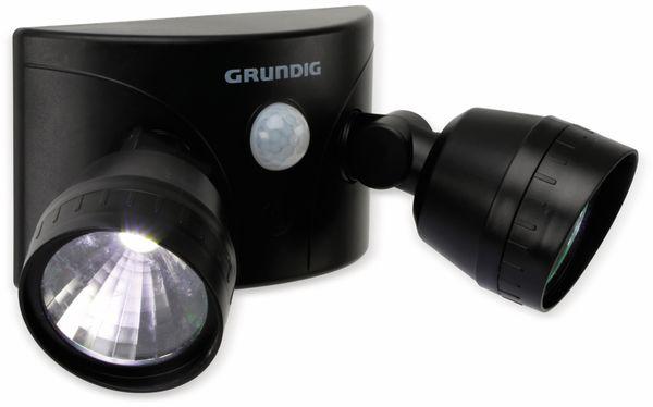 LED- Doppelleuchte GRUNDIG, mit Bewegungssensor, schwarz, Batteriebetrieb