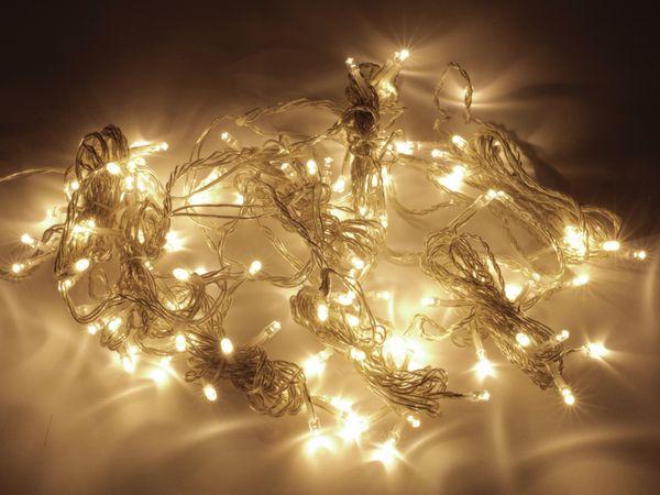 LED-Lichterkette, 128 LEDs, warmweiß, 230V~, IP20, Innen, B-Ware - Produktbild 1