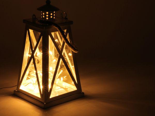 LED-Lichterkette, 40 LEDs, warmweiß, 230V~, IP44, Innen/Außen - Produktbild 2