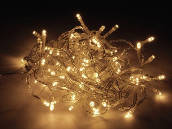 LED-Lichterkette, 80 LEDs, warmweiß, 230V~, IP44, Innen/Außen - Produktbild 2