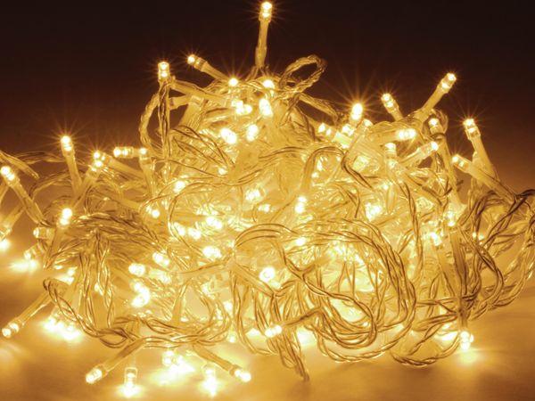 LED-Lichterkette, 120 LEDs, warmweiß, 230V~, IP44, Innen/Außen